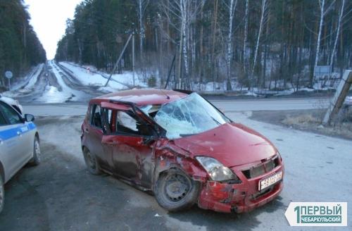 «Кашкай» оказался крепче. В Чебаркульском районе в ДТП пострадала молодая семья