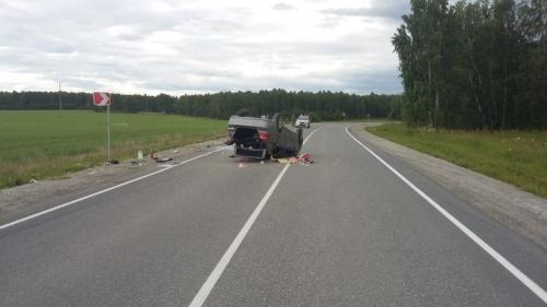 Авто на крыше. В Чебаркульском районе в ДТП погибла 25-летняя девушка